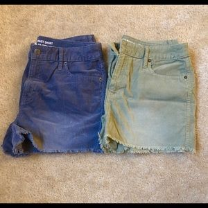 Mossimo Highwaisted Jean Shorts - Two Pieces